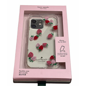 Kate Spade iphone 12 Pro/12  strawberry Case new